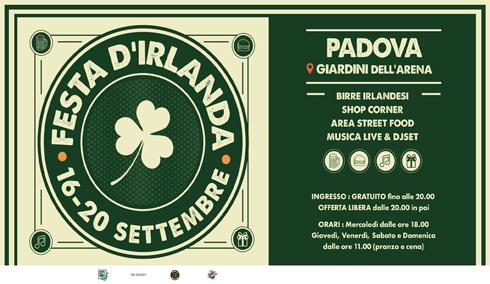 Festa D'Irlanda 2020 • Giardini dell'Arena / Padova